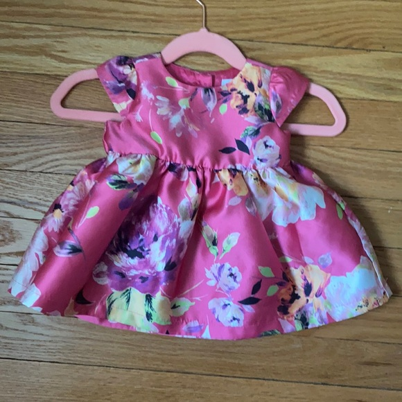 Baby Girls Pink Flower Dress